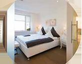 Ferienwohnung/Boardinghouse Schlafzimmer